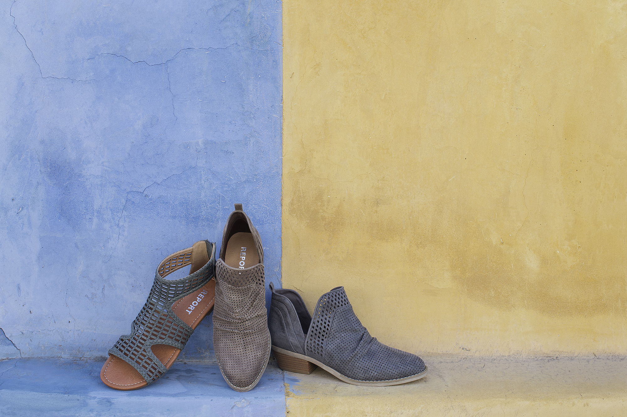 Report shoes spring campaign photographed in the Tucson Barrio by Fashion Photographer Michelle Moore